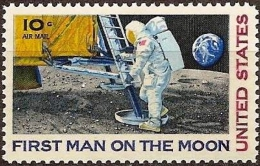 United States 1969 - First Man On The Moon ( Mi 990 - YT PA 73 ) MNH ** - Luftpost