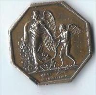 Jeton  /Ange Et Angelot/ Fleurs De Rosiers/ D. De Puymaurin/ Vers 1840  D470 - Medailles & Militaire Decoraties