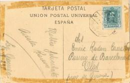 8127. Postal LA GARRIGA (barcelona) 1929. AMBULANTE Ferrocarril - 1889-1931 Royaume: Alphonse XIII