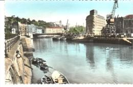 POSTAL    BILBAO - ESPAÑA -  RIA Y PUENTE DEL GENERAL MOLA -  (EDIC. GARCIA GARRABELLA ) - Vizcaya (Bilbao)