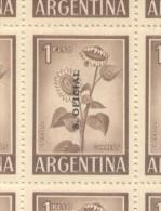 GIRASOL SUNFLOWER REPUBLICA ARGENTINA SERVICIO OFICIAL JALIL NR. 737 MNH  COLOR PARDO CLARO  MIRASOL - Altri