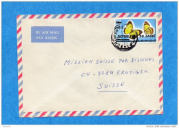 MARCOPHILIE-lettre ZAÏRE Pour Suisse--cad- 1978- Stamp N°890-Surchargé-Butterfly-colotis - Zaïre