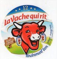Mai14     12 AA 128    étiquette  Vache Qui Rit Riche En Calcium  12 P - Käse