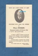 Carte Ancienne De Décés - VOID ( Meuse ) - Pierre MASSON , Décédé Le 29 Octobre 1962 - Obituary Notices