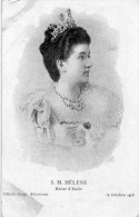 Cpa  Sa Majesté HELENE, Reine D'Italie, 14 Octobre 1903 (23.10) - Familles Royales