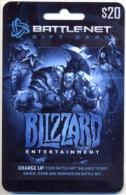 Battlenet  U.S.A. Game Card, Gift Card, Carte Pour Collection Sans Valeur  # 345 - Gift Cards