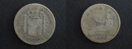 1870 - 2 PESETAS ARGENT ESPAGNE- SILVER -  SPAIN ESPANA - [ 1] …-1931 : Koninkrijk