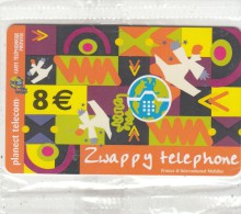 FRANCE - Zwappy Telephone, Planect Telecom Prepaid Card 8 Euro, Exp.date 12/02, Mint - Prepaid Cards: Other