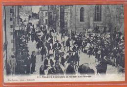 Carte Postale 44. Guérande Paludiers Se Rendant Aux Courses Trés Beau Plan - La Bernerie-en-Retz