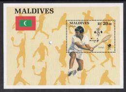Maldives MNH Scott #1300 Souvenir Sheet 20r Tennis - 1988 Summer Olympics, Seoul - Maldives (1965-...)