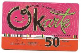 Latvia  Lettland / Lettonia Telefonkarte 2009 - 50 Days Prepaid Card Used - Latvia