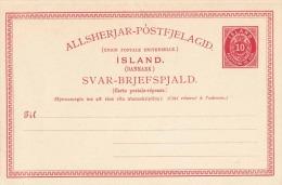 ISLAND (Danmark) 1899? - 2 X 10 Aur ** Auf Doppel-Pk - 1873-1918 Dänische Abhängigkeit
