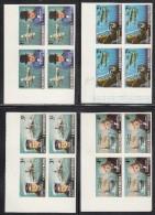 Maldives MNH Scott #524-#531 Set Of 8 Imperf Upper Left Corner Blocks Sir Winston Churchill Birth Centenary - Maldives (1965-...)
