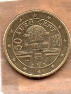PIECE DE 50 CT D'EURO AUTRICHE 2009 - Autriche