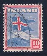 Iceland, Scott # 228 Used Flag, 1939 - 1918-1944 Autonomous Administration