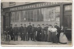 PARIS - Devanture De La POSTE TELEGRAPHE TELEPHONE - CARTE PHOTO - Arrondissement: 19