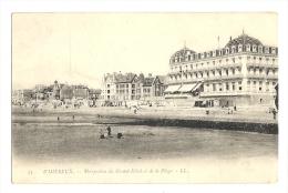 Cp, 62, Wimereux, Perspective Du Grand Hôtel Et De La Plage - Autres Communes