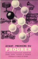 Livret-avant Première Du Progrès-un Spectacle Passionnant Présenté Par Général Motors Montrant La Recherche Scientifique - Livres, BD, Revues