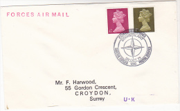 1971 FORCES Air Mail COVER NATO BRITISH FORCES Pmk COMMISSIONING COMIBERLANT Gb Stamps - NATO
