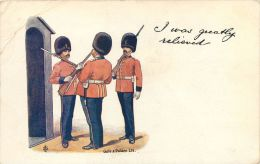 Soldiers Gale & Polden Wellington Series Comic Postcard Posted 1904 Stamp I Was Greatly Relieved - Fumetti