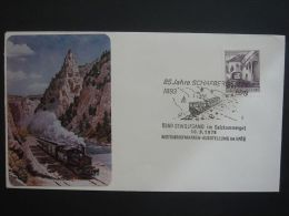 Austria 1978 Commercial Cover To England Railway Train Schafbergbahn 85 Jahre #1 - 1945-.... 2. Republik