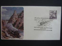 Austria 1978 Commercial Cover To England Railway Train Schafbergbahn 85 Jahre #2 - 1945-.... 2nd Republic