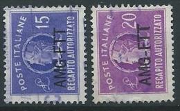 1949-52 TRIESTE A USATO RECAPITO AUTORIZZATO 2 VALORI - ED141-3 - 7. Triest