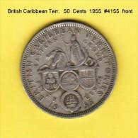 BRITISH CARIBBEAN TERRITORIES    50  CENTS  1955  (KM # 7) - East Caribbean States