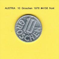 AUSTRIA    10  GROSCHEN  1976  (KM # 2878) - Austria