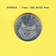 RWANDA    1  FRANC  1985  (KM # 12) - Rwanda