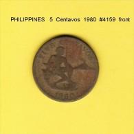 PHILIPPINES   5  CENTAVOS  1980  (KM # 187) - Philippinen
