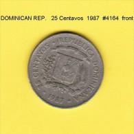 DOMINICAN REPUBLIC   25  CENTAVOS  1987  (KM # 61) - Dominicana