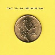 ITALY   20  LIRE  1995  (KM # 97.2) - 1946-… : Republic