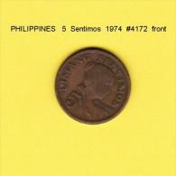 PHILIPPINES   5  SENTIMOS  1974  (KM # 197) - Philippines