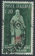 1950 TRIESTE A USATO GUIDO D'AREZZO - ED160 - Usati