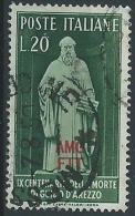 1950 TRIESTE A USATO GUIDO D'AREZZO - ED160 - 7. Triest