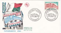 MADAGASCAR : Lettre Journée Du Timbre Le 8 Mai 1963 - Madagascar (1960-...)