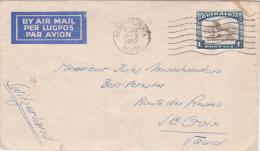 AFRIQUE DU SUD : Lettre 15 X 9 Cms. Oblitérée Le 29.X.1937, à Destination De Ste-Croix - Afrique Du Sud (1961-...)