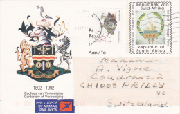 "AFRIQUE DU SUD : Carte- Entier Postal "" Centenary Of Vereenining - 1993 - Afrique Du Sud (1961-...)"