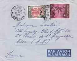 VIETNAM : FRAGMENT DE LETTRE Oblitérée Le 28.12.1963 - 14.5 X 11.5 Cms - Viêt-Nam
