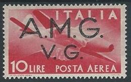 1945-47 TRIESTE AMG VG POSTA AEREA 10 LIRE MH * - ED179-2 - Trieste