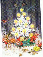 CARTE    NOEL   Santa Claus Avec Sapin  Belle Carte   Mauvais Scan - Santa Claus