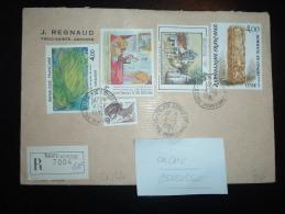LR TARIF 16,40F (TP CESAR + UTRILLO + BONNARD + MESSAGIER) OBL. 4-5-1984 STE ADRESSE (76 SEINE-MARITIME) + GRIFFE - Postmark Collection (Covers)