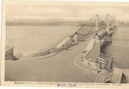 MONTJEAN -n Le Pont Qui S Etait Effondre En Juillet 1935 Vient D être Remis En Circulation  110 - Frankreich