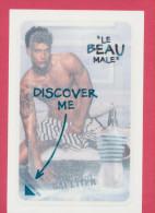 F - Nouveauté - Carte Film GAULTIER - Le Beau Male Sans L´ours- Perfume Card - USA - Cartes Parfumées