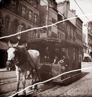 BOULOGNE TRAMWAY A CHEVAL UNIQUE   TIRAGE D APRES PLAQUE PHOTO LIRE LA DESCRIPTION - Reproducciones
