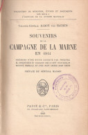 SOUVENIRS CAMPAGNE MARNE GUERRE 1914 GENERAL BARON VON HAUSEN 3e ARMEE ALLEMANDE KAISER SAXE  REGIMENTS SAXONS