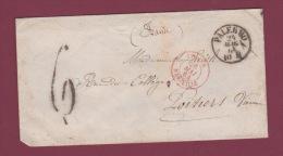 MARCOPHILIE - 020514 -  PALERMO + Taxe 6 Au Tampon Avec Cachet D'entree ITALIE MARSEILLE - Entry Postmarks