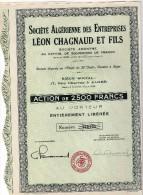 Société Algérienne Leon CHAGNAUD Alger 22 Coupons - Afrique
