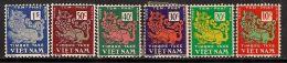 South Vietnam Viet Nam MNH Perf Stamps 1952 : Licorn ; Scott#J1-J6 - Vietnam